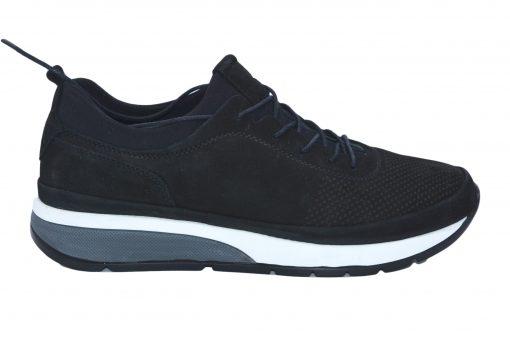 Pantofi sport piele intoarsa negri barbat 114-1