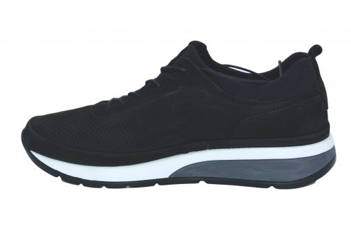 Pantofi sport piele intoarsa neagra barbat 114