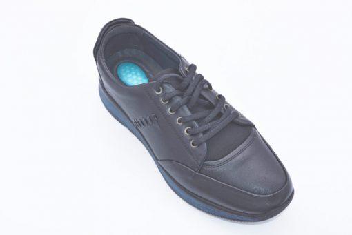 Pantofi sport piele negri naturala